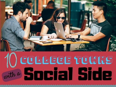 10 College Towns with a Social Side