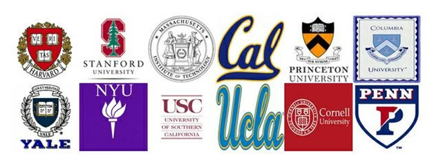 collage of colleges' logos