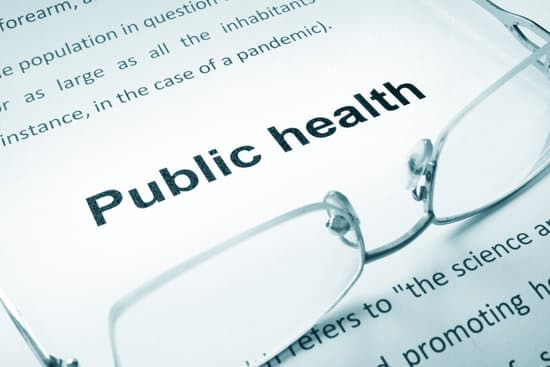 Public health sign on a paper and glasses.
