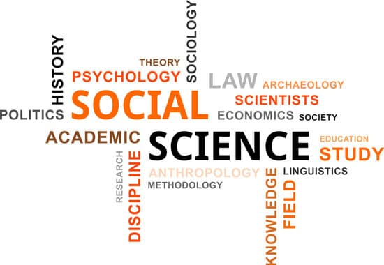 A word cloud of social science related items