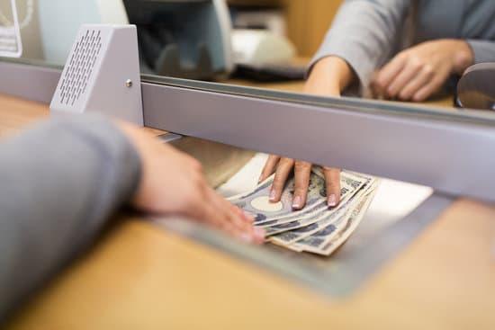 young employee receiving money