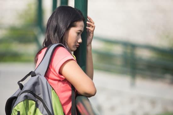 sad looking student outdoor