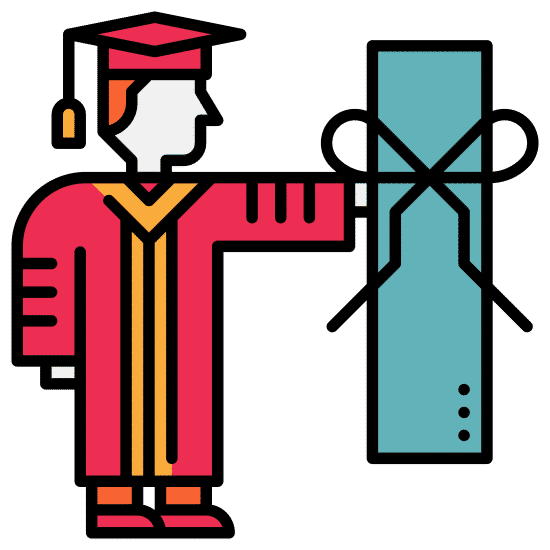 college student and diploma