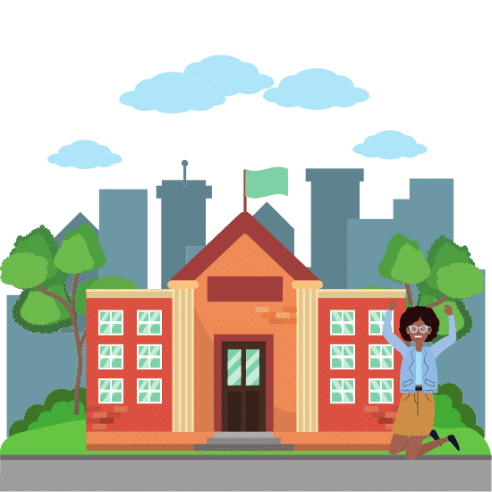 going to college - concept