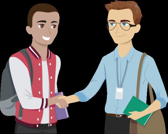 professor and student