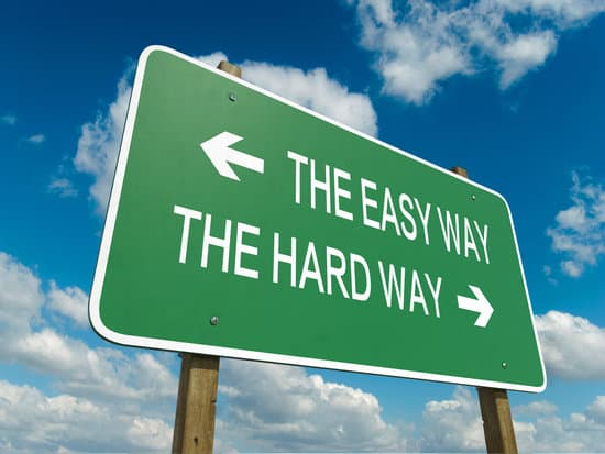 Road sign to the easy way