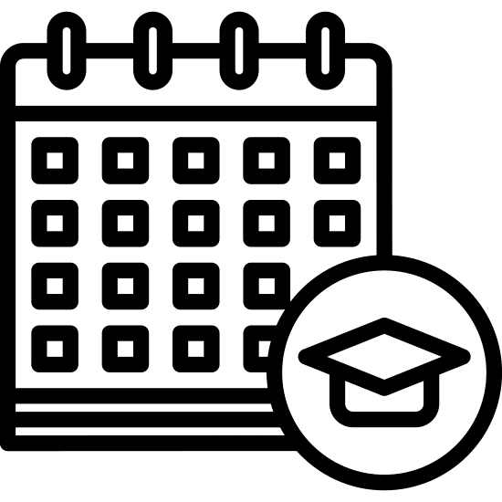 college calendar concept