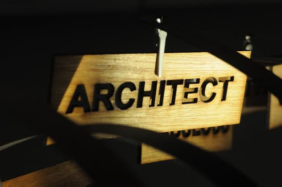 ARCHITECT on a wooden sign