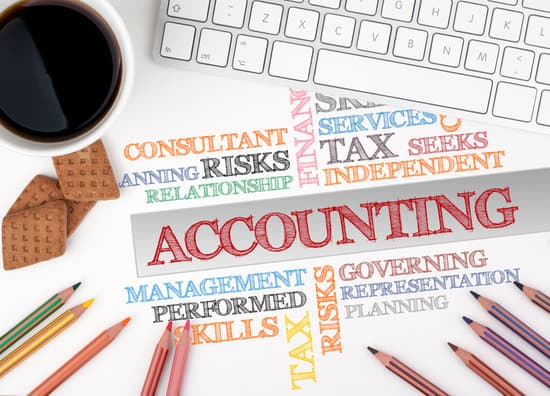 ACCOUNTING word cloud. White office desk.