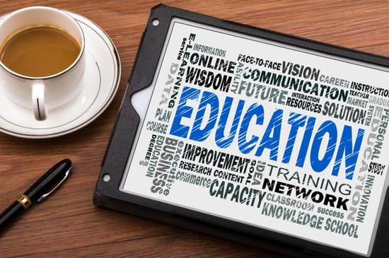 education word cloud concept on tablet pc