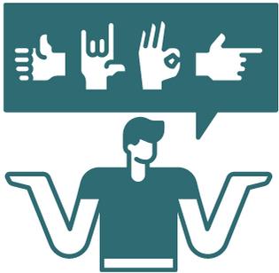 deaf student concept