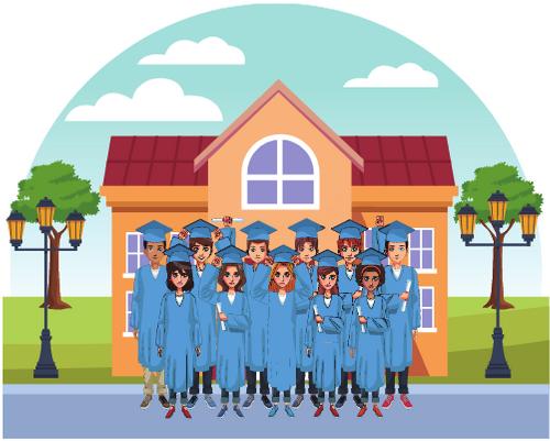 college graduation concept