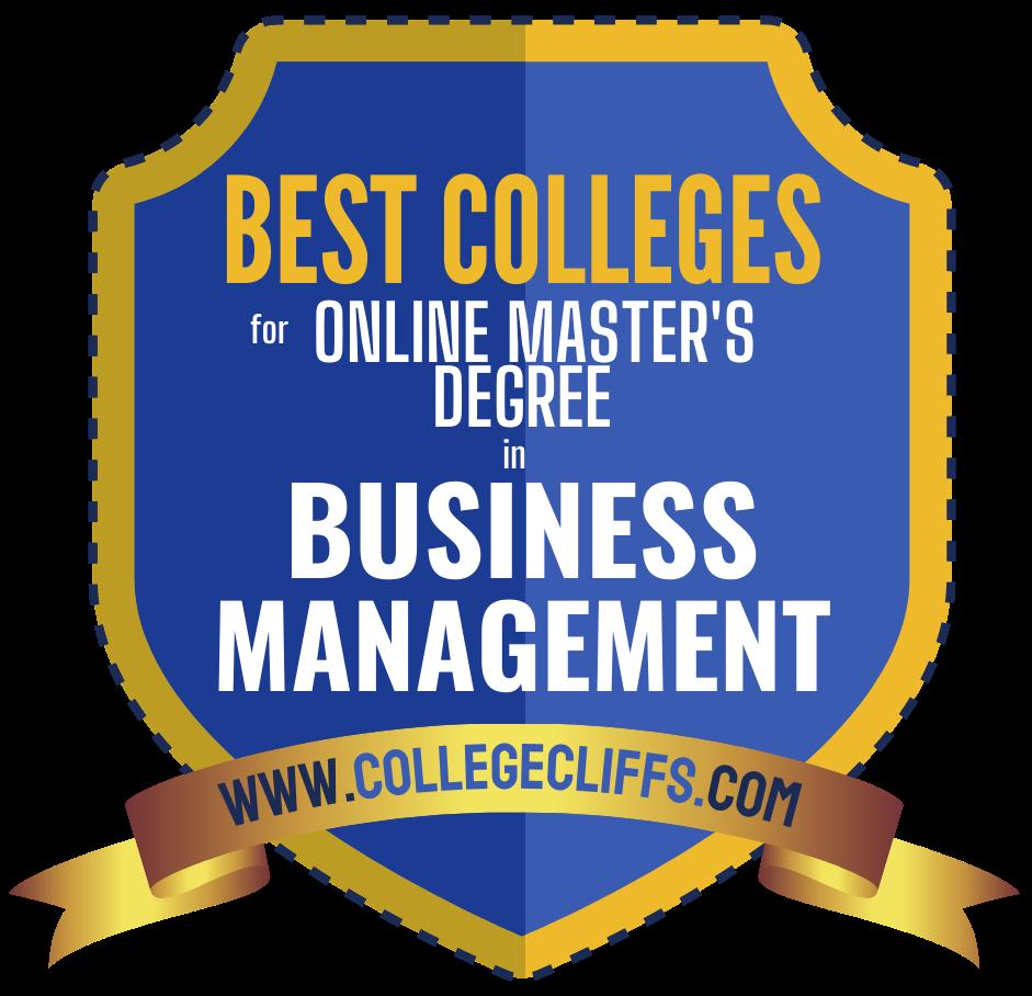 Best Online Schools For Master's Degree In Business Management Badge