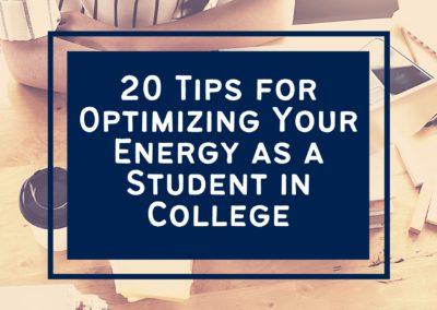 Optimizing College Student Energy - featured image