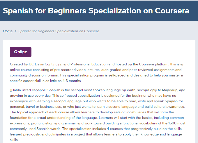 3 - 12 Free Online College Classes for Foreign Language