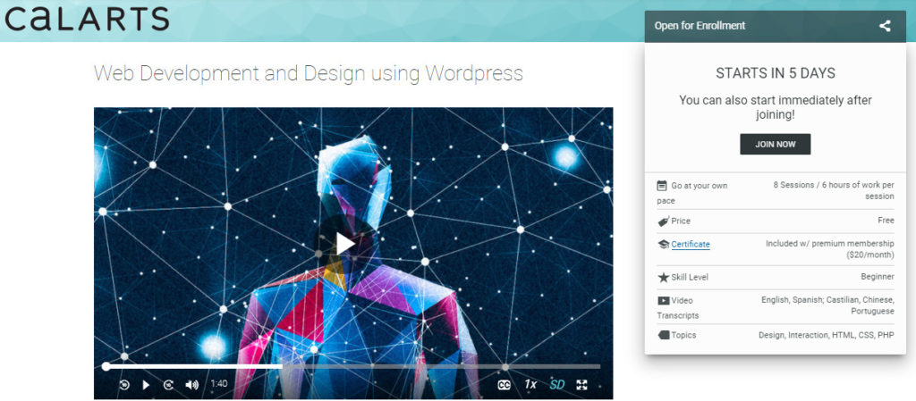 5 - Free Online College Courses for Web Design and Development