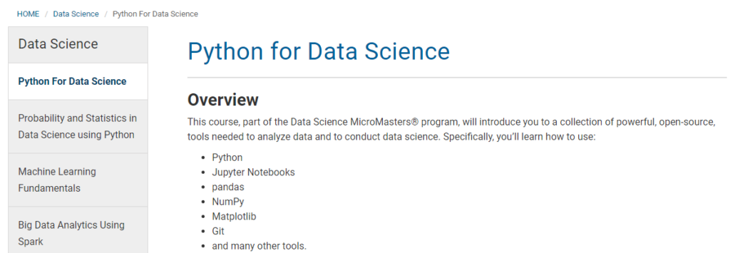 Free Online College Courses for Data Science 3