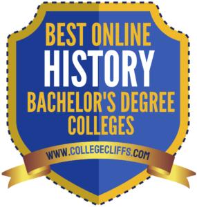 Best Online Bachelor History Degree Colleges - badge