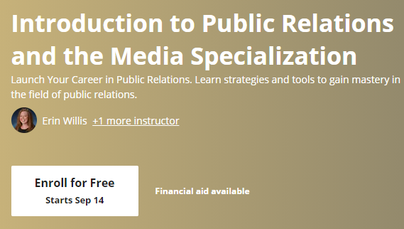Free Online College Classes for PR and Communication 1