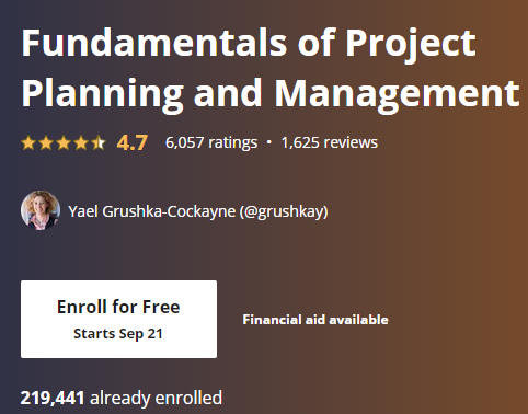 Free Online College Classes for Project Management 1