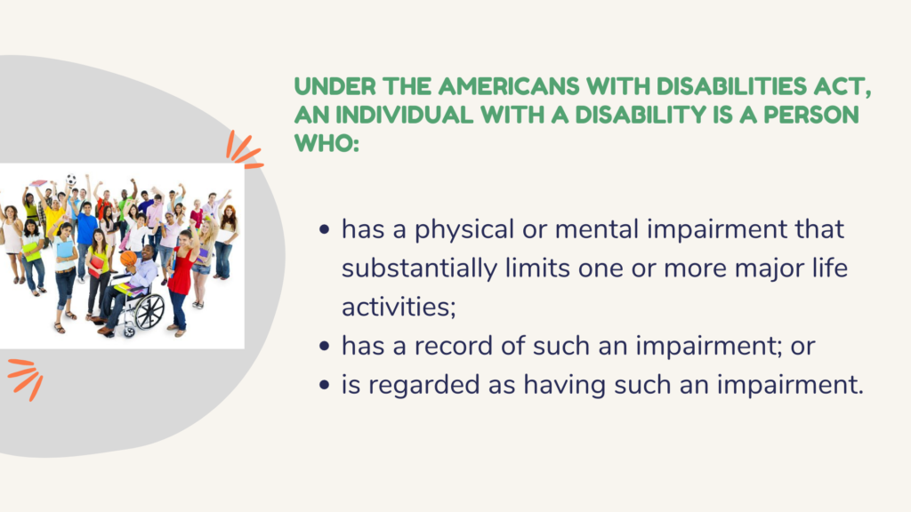 Infographic of Person with Disability